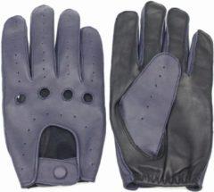 Swift driver leren, auto handschoenen | mannen / vrouwen | zwart - blauw | maat M