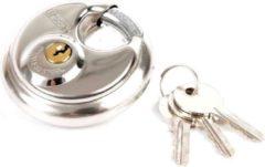 Zilveren Python hangslot discus 70mm - Fietsslot