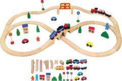 New Classic Toys Viga Toys - Houten Trein Set - 49 delen