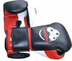 Punch Round™ Champion Bokshandschoenen Leder Zwart Rood Wit 12 oz