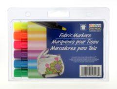 Marvy Uchida Textielstiften Bold Neon 6 Stuks