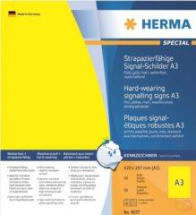 Signaleringsplaatjes Herma 8037 slijtvast A3 297x420 mm geel sterk hechtend folie mat weerbestendig 50 st.