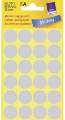 Avery-Zweckform 3171 Etiketten à 18 mm Papier Grijs 96 stuks Permanent Etiketten voor markeringspunten