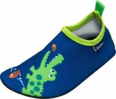 Playshoes - Kid's UV-Schutz Barfuß-Schuh Krokodil - Watersportschoenen maat 18/19, blauw/groen