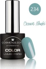Kaki Cosmetics Zone UV/LED Hybrid Gel Nagellak 7ml. Ocean Khaki 234