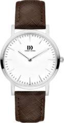 Zilveren Danish Design watches edelstalen dameshorloge London White Silver/Brown Medium IV12Q1235