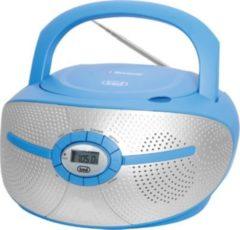 Trevi CMP 552 BT Stereo-Radio-CD-Player mit CD und Bluetooth - blau