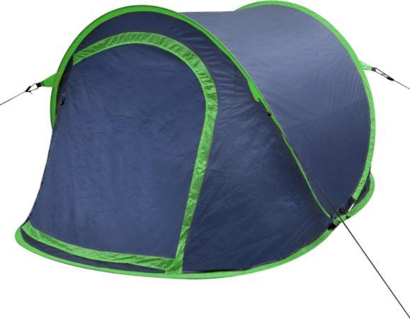 Afbeelding van Marineblauwe VidaXL Pop-up tent 2 personen marineblauw / groen
