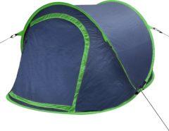 Marineblauwe VidaXL Pop-up tent 2 personen marineblauw / groen