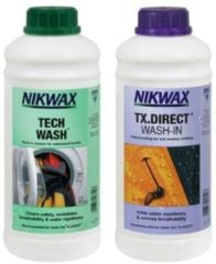 Nikwax Tech Wash en Nikwax TX.DIRECT wash-in voor waterafstotende textiel 2x 1 Liter