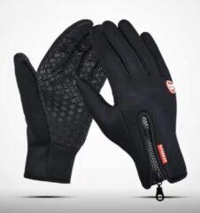 Zwarte Merkloos / Sans marque Waterafstotende Touchscreen Handschoenen Neopreen – Sporthandschoenen - Hardloophandschoenen – Fietshandschoenen - Uniseks – Maat M