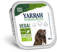 Yarrah dog alu brokjes vega met rozenbottels hondenvoer 12x150 gr