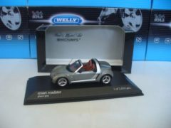 Minichamps 1/43 Smart Roadster 2003 Grijs Metallic