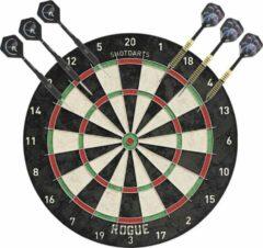 Merkloos / Sans marque Professioneel dartbord Rogue Bristle incl 2 sets dartpijlen 22 grams - Sportief spelen - Darten/darts - Dartborden voor kinderen en volwassenen.
