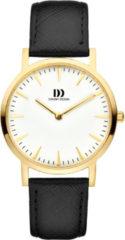 Gouden Danish Design watches edelstalen dameshorloge London White Gold/Brown Medium IV11Q1235