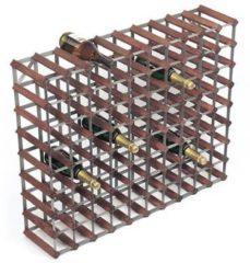 Donkerbruine RTA Wijnrek van hout voor 90 flessen