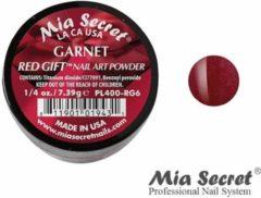 Donkerrode Mia Secret Red Gift Acrylpoeder Garnet