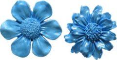 Blauwe First Impression Molds First Impressions Medium Flower Set 5