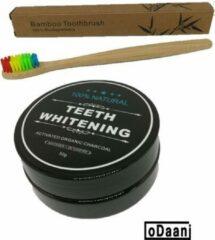 ODaani Activated Organic Charcoal 30 Gram - Inclusief Bamboe Tandenborstel - Milieuvriendelijk - Recyclebaar