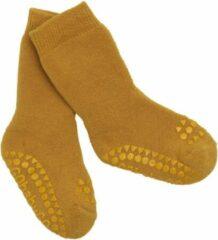 Gele Gobabygo -anti-slip sokjes oker 20-22 of 1-2 jaar