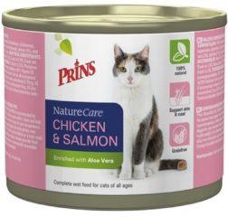 Prins Naturecare Cat Kip&Zalm - Kattenvoer - 200 g - Kattenvoer
