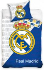 Real Madrid CF Real Madrid Dekbedovertrek 140 X 200 Cm Wit/blauw 70 X 90 Cm