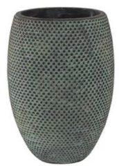 Blauwe Ter Steege Hoge pot fay blue gold bloempot binnen 19 cm