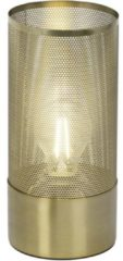 Gouden BRILLIANT lamp Gracian tafellamp geborsteld messing | 1x A60, E27, 60W, gf normale lampen niet gespecificeerd Geschikt voor LED-lampen | Met snoerschakelaar