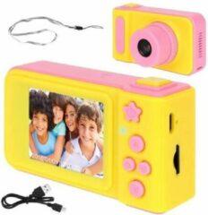 Roze IsoTrade Mini Digitale Camera voor Kinderen | Oplaadbaar | 2 inch LCD Scherm