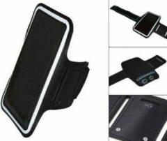 Comfortabele Smartphone Sport Armband voor uw Huawei Ascend G740, Zwart, merk i12Cover