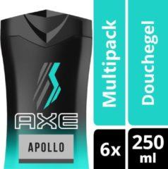 Axe Apollo For Men Douchegel - 6 x 250 ml - Voordeelverpakking