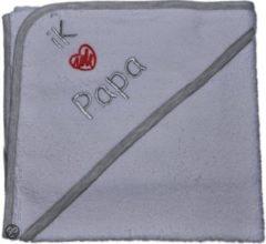 Funnies Badcape - Ik hou van papa wit/grijs/zilver