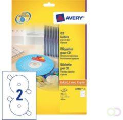 Zweckform Etiket Avery l6043-100 cd wit 200stuks - actie!