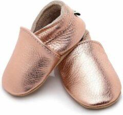 Roze Supercute Leren baby sloffen - Rosé - 0 - 6 maanden - Leer - Babyschoenen - Meisje - Kraamkado - Babyshower