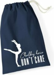 Marineblauwe Sparkle&Dream Leertjes/Lusjes Tasje 'Chalky Hair' Navy, voor turnen en gymnastiek