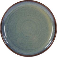 Blauwe Kaitø KAITØ Coupe bord diam. 22cm 'Slate Silk' Stoneware - 6 stuks