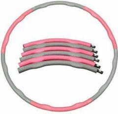 Weight hoop Original - Fitness Hoelahoep - Met DVD - 1.2 kg - Ø 100 cm - Roze/Grijs