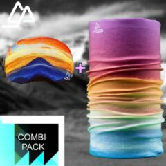 Blauwe Goggle Protect Combipack | Skibril | Bandana | Sjaal | Beschermhoes | Cover | Skihelm | Wintersport | Ski | Snowboard | Mondmasker