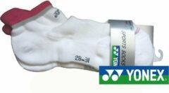 Yonex enkelsokken 9036 wit/roze | maat 43 t/m 47