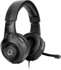Zwarte QPAD - QH-20 RGB Stereo Gaming Headset met 40mm speaker, Multiplatform, lichtgewicht ontwerp met verstelbare hoofdband, Rainbow LED-verlichting