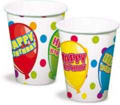 Folat Happy Birthday Feest Bekers - 6 stuks