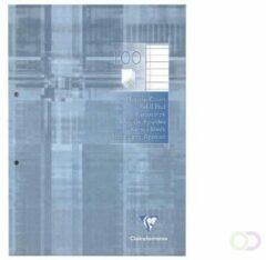 Clairefontaine 5814C Notitieblok Lichtgrijs Gelinieerd 2-gaats A4 90/95 g/m²