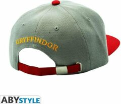 Grijze ABYSTYLE Grey & Red Gryffindor Snapback Cap Harry potter