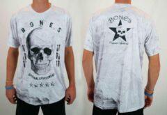 Witte Bones Sportswear Heren T-shirt maat L SALE