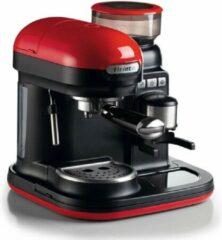 Rode Ariete Moderna Espresso Machine - Met Geïntegreerde Koffiemolen