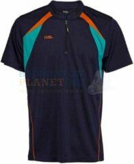 RSL T-shirt Badminton Tennis Blauw/Oranje maat XS