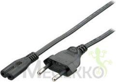 Zwarte Equip 112160 1.8m C7 stekker CEE7/16 Zwart electriciteitssnoer