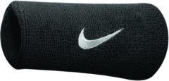 Zwarte Nike - Swoosh Doublewide Wristbands - Nike Zweetbandjes