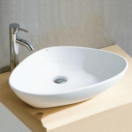 Afbeelding van Douche Concurrent Waskom Elite Lavabo 59x39x13.5cm Porselein Wit