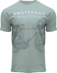 Groene Fox Originals Amsterdam Line Biketown Unisex T-shirt Maat 2XL